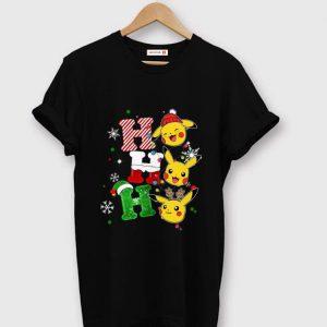 Top Pikachu Santa Ho Ho Ho Christmas shirt