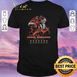 Top Signature Michael Schumacher 7 cup world titles shirt sweater