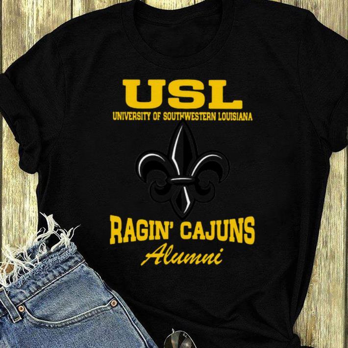 Top Usl University Of Southwestern Louisiana Ragin Cajuns Alumni shirt 4 - Top Usl University Of Southwestern Louisiana Ragin' Cajuns Alumni shirt