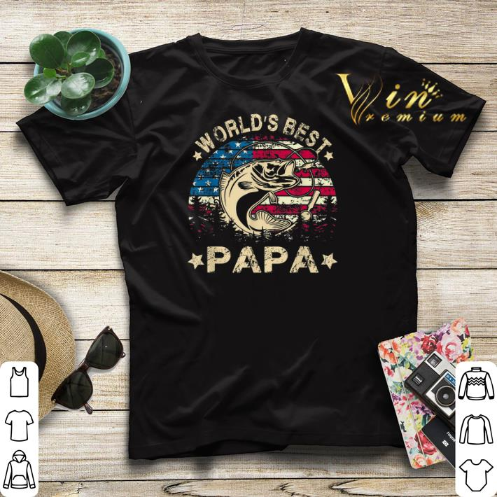 American Flag World s Best Fishing Papa shirt 4 - American Flag World's Best Fishing Papa shirt