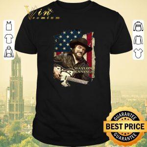 Awesome American flag Waylon Jennings shirt sweater