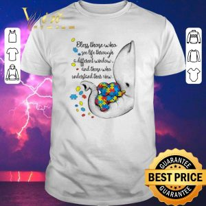 Awesome Autism Puzzle elephants bless those who see life through window shirt sweater
