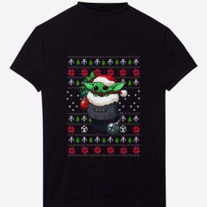 Awesome Baby Yoda Santa Stocking Ugly Christmas shirt