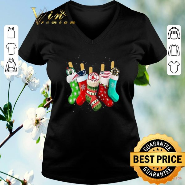 Awesome Boston Celtics New England Patriots Boston Red Sox Stock Christmas shirt sweater