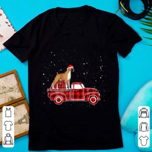 Awesome Boxer Buffalo Plaid Truck Xmas Boxer Christmas Pajama Gift sweater