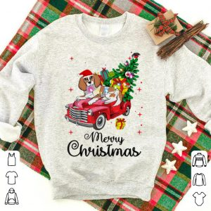 Awesome Cavalier King Charles Ride Red Truck Christmas Pajama sweater