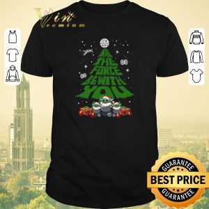 Awesome Christmas Tree Baby Yoda May The Force Be With With You shirt