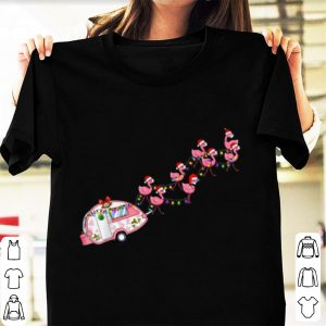 Awesome Flamingo Camper Christmas Santa Gift For Glamping sweater