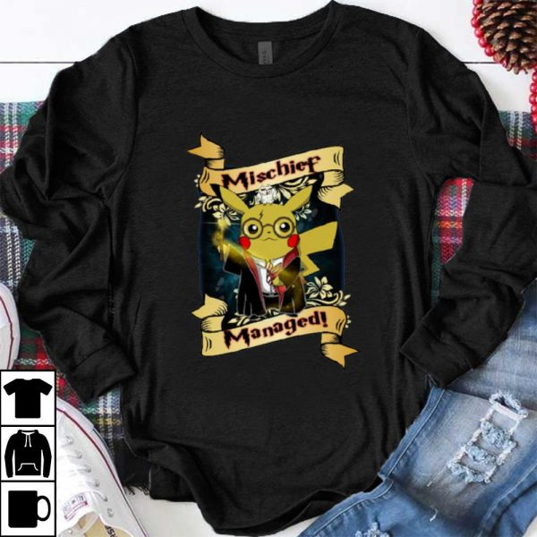 Awesome Harry Pika - Harry Potter And Pikachu Mischief Managed shirt