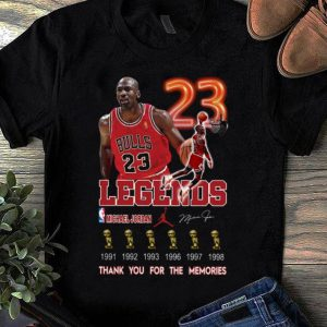 Awesome Legend Michael Jordan thank you for the memories Signature shirt
