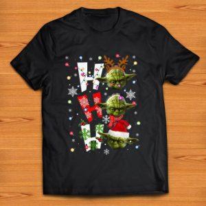 Awesome Santa Yoda Ho Ho Ho Christmas shirt