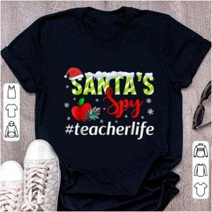 Awesome Santa's Spy Teacher Life - Awesome Teacher Christmas sweater
