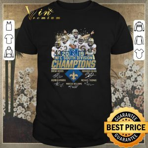 Awesome Signatures New Orleans Saints 2019 NFC South Divison Champions shirt