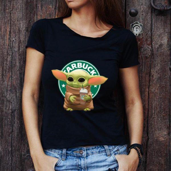 Awesome Star Wars Baby Yoda Hug Starbucks shirt