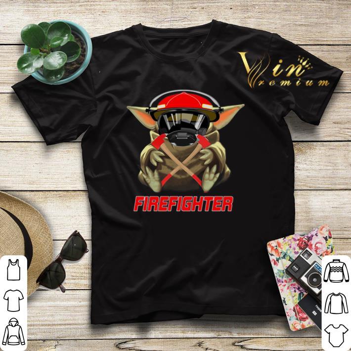 Baby Yoda Mashup Firefighter Star Wars shirt sweater 4 - Baby Yoda Mashup Firefighter Star Wars shirt sweater