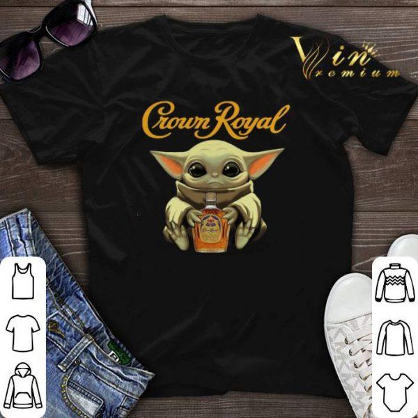 Baby Yoda hug Crown Royal Star Wars Mandalorian shirt sweater
