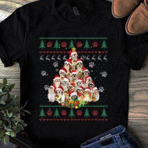 Beautiful Shih Tzu Christmas Tree Dog Lover Ugly Christmas shirt