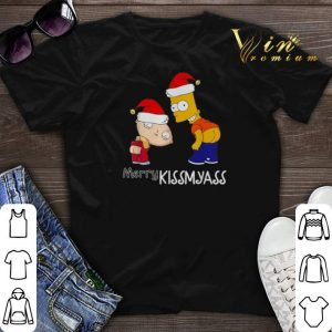 Christmas The Simpsons Merry Kissmyass shirt