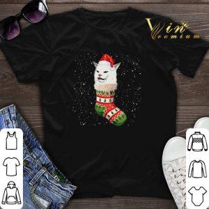 Christmas socks Woman Yelling Cat Meme shirt sweater