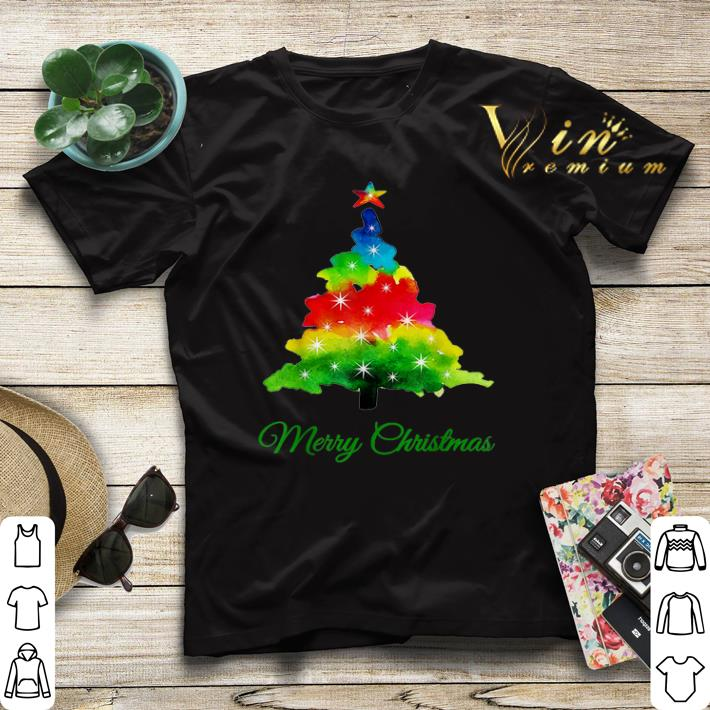 Colorful merry Christmas Tree Art shirt sweater 4 - Colorful merry Christmas Tree Art shirt sweater