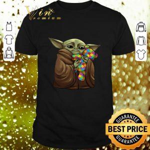 Cool Baby Yoda Hug Teddy Autism Disney shirt