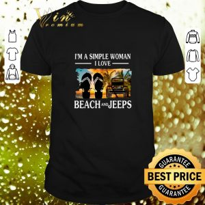 Cool I'm a simple woman I love beach and Jeep flip flop shirt