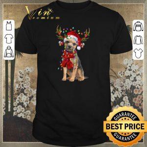 Funny Border Terrier Reindeer Christmas shirt sweater