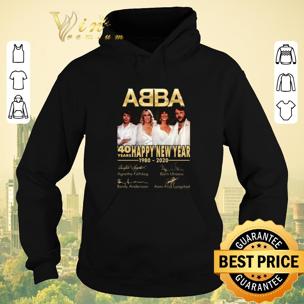 Funny Signatures 40 years ABBA Happy New Year 1980 2020 shirt 4 - Funny Signatures 40 years ABBA Happy New Year 1980 2020 shirt
