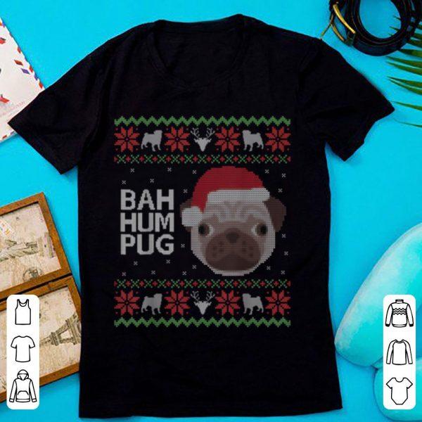 Funny Ugly Sweater Christmas Bah Hum Pug Dog Gift sweater