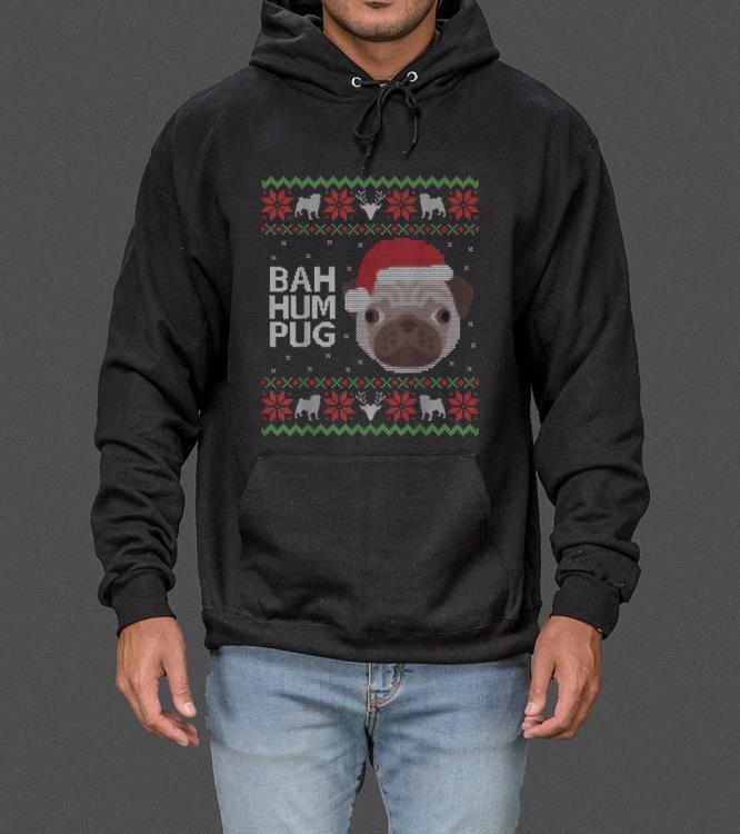 Funny Ugly Sweater Christmas Bah Hum Pug Dog Gift sweater 4 - Funny Ugly Sweater Christmas Bah Hum Pug Dog Gift sweater