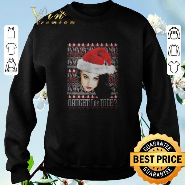 Funny ugly Christmas Naughty or nice sweater