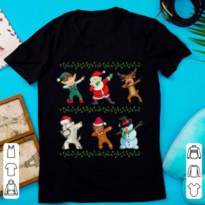 Great Funny Dabbing Santa Scottish Terrier And Friends Christmas sweater