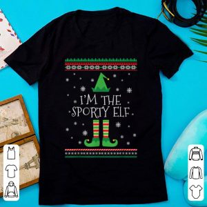 Great I'm The Sporty Elf Ugly Christmas PJ sweater