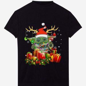 Great Santa Baby Yoda Reindeer Christmas Light Christmas Gift shirt
