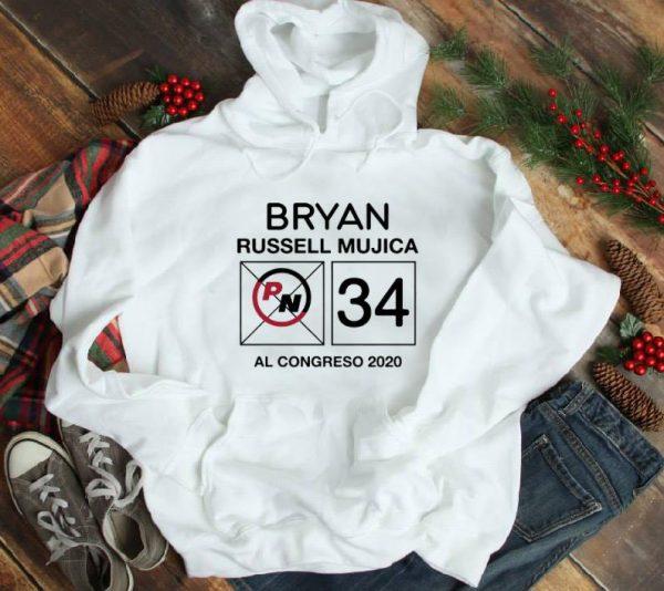Hot Bryan Russell Mujica PN 34 AL Congreso 2020 shirt