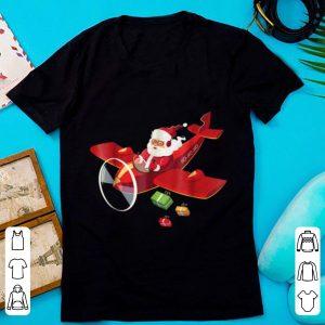 Hot Christmas Santa Claus Pilot Flying Airplane Gift sweater