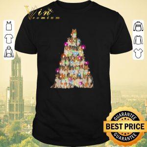 Hot Christmas lights Sheltie paws tree shirt