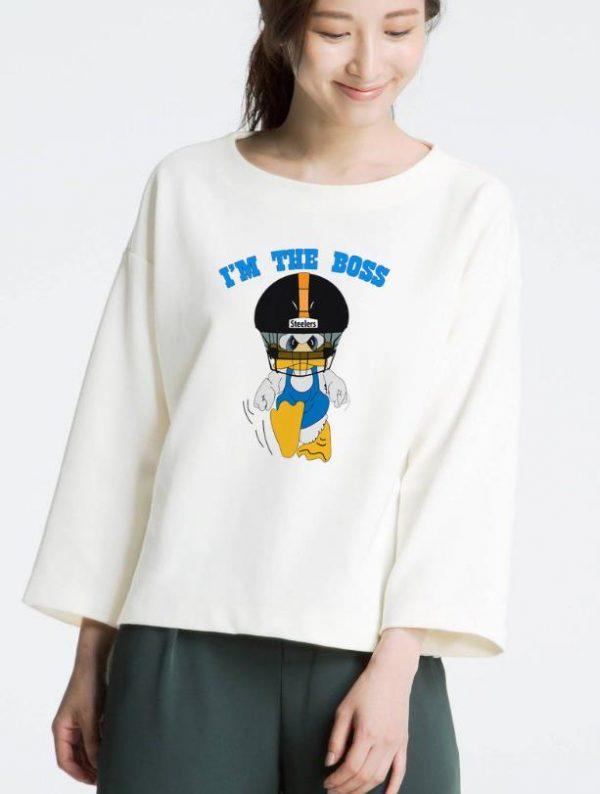 Hot Duck Hodges I'm The Boss Steelers shirt
