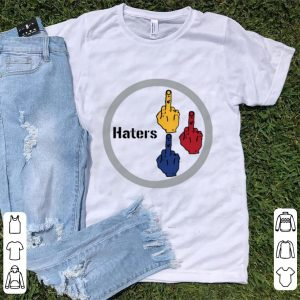 Hot Middle finger Steelers Haters shirt