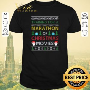 Hot Training for a marathon of Christmas movies ugly shirt sweater