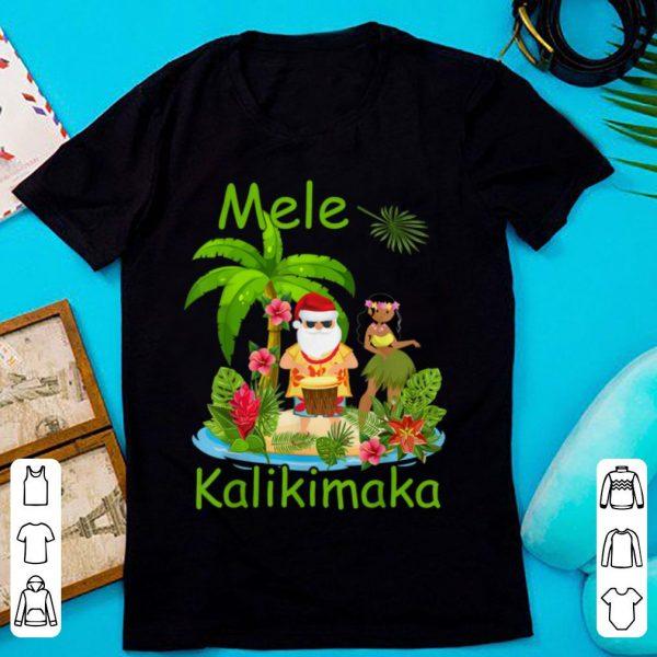Mele Kalikimaka Christmas Santa Hula Hawaii tropical Gift sweater