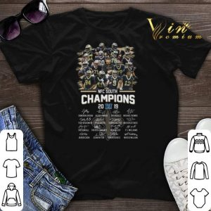 NFC South Champions 2019 signatures New Orleans Saints shirt sweater