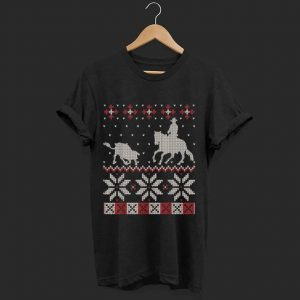 Nice Cutting Horse Ugly Christmas Sweater Western Equestrian Gift sweater