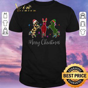 Nice Horse Merry Christmas leopard plaid shirt sweater