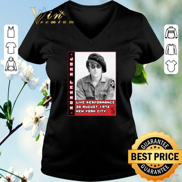 Nice John Lennon live performance 30 august 1972 New York City shirt sweater