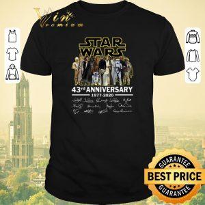 Nice Signatures Star Wars all character 43rd anniversary 1977-2020 shirt