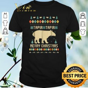 Nice Tapirus Tapir Merry Christmas ugly shirt sweater