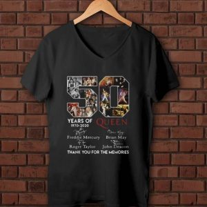 Official 50 Years Of Queen Thank You For The Memories Signatures shirt