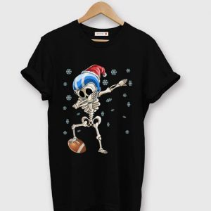 Official Dabbing Skeleton Football Christmas Santa Hat Gift sweater