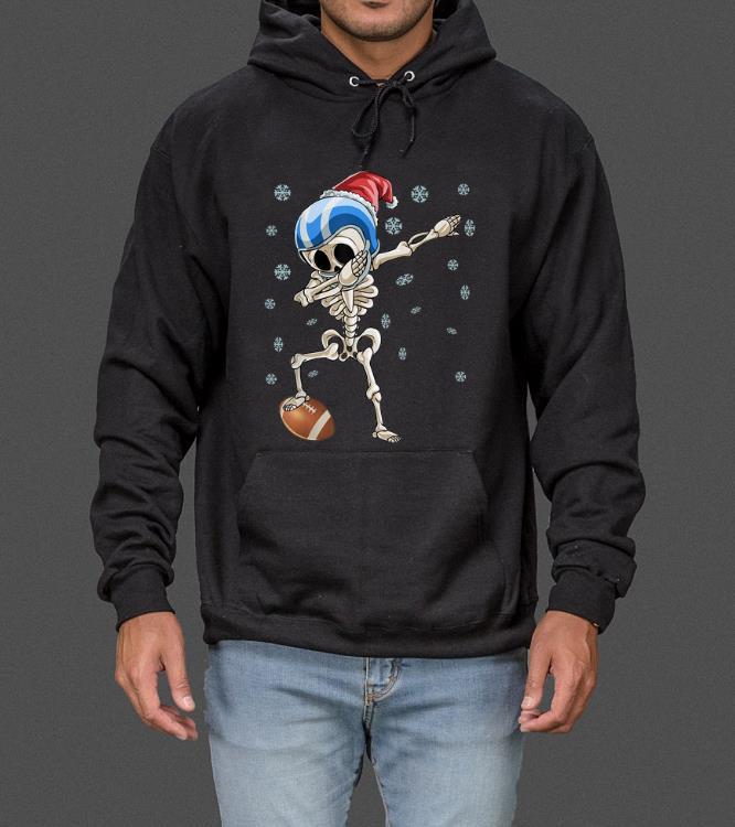 Official Dabbing Skeleton Football Christmas Santa Hat Gift sweater 4 - Official Dabbing Skeleton Football Christmas Santa Hat Gift sweater